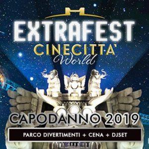 capodanno roma 2019 Cinecittà world extrafest